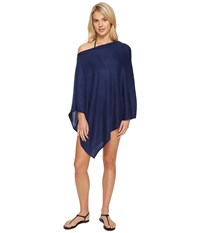 Echo Everyday Luxe Poncho Topper Navy Women's Clothing