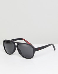 Polo Ralph Lauren Aviator Sunglasses With Red Contrast Black