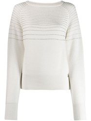 Patrizia Pepe Knitted Jumper White