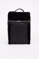 Alexander Wang Rubberized Shearling Backpack Black