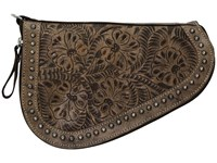 American West Padded Gun Case Distressed Charcoal Brown Bags