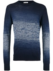 Paolo Pecora Gradient Effect Sweater Blue