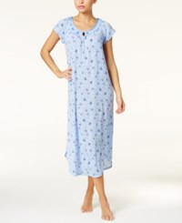 Charter Club Crinkle Printed Knit Nightgown Only At Macy's Flutter Butterfly