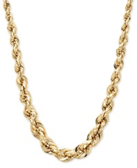 Macy's 14K Gold Necklace 3 6Mm Square Graduated Polished Rope Chain
