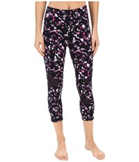 Yummie Tummie Leah Capris Stained Glass Women's Capri Purple