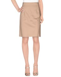 Miu Miu Skirts Knee Length Skirts Women Camel