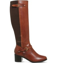 Office Kennedy Leather Knee High Boots Tan Leather