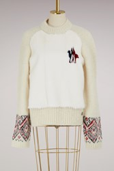 Moncler Gamme Rouge Maryna Alpaca Sweater White
