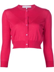 Carolina Herrera Cropped Cardigan Pink And Purple