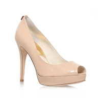 Michael Kors York Platform Peep Toe Court Shoes Nude