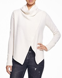 Dylan Gray Draped Wool And Cashmere Cardigan Chalk