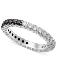 Macy's Bicolor Diamond Eternity Band 1 Ct.T.W. In 14K Rose Or White Gold