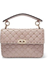 Valentino Garavani The Rockstud Spike Medium Quilted Leather Shoulder Bag Blush