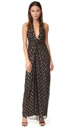 Diane Von Furstenberg Evelina Maxi Dress Tendu Black