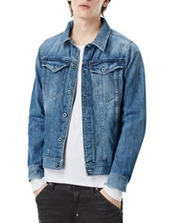 G Star Slim Fit Denim Jacket Light Aged Blue