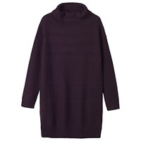 Toast Ribbed Wool Tunic Aubergine