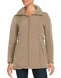 Gallery Hooded Quilted Coat Barley