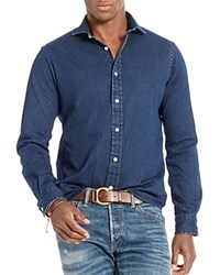 Polo Ralph Lauren Stretch Denim Slim Fit Button Down Shirt Indigo