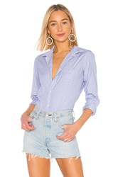 Frank And Eileen Barry Limited Edition Button Down Blouse Blue