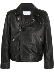 Calvin Klein Jeans Relaxed Fit Biker Jacket Black