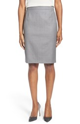 Women's Boss 'Vilea' Pinstripe Stretch Wool Pencil Skirt