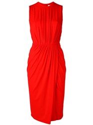 Givenchy Draped Detail Evening Dress Red