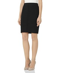Reiss Mallie Knit Pencil Skirt Night Navy