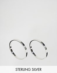 Asos Sterling Silver Pack Of 2 Flat Faced Rings Silver
