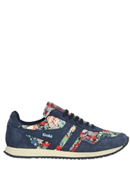 Gola Spirit Liberty Floral And Suede Sneakers Navy