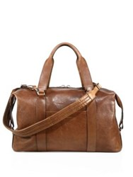 Brunello Cucinelli Leather Gym Bag Rum