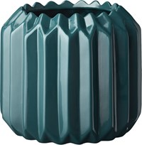 Cb2 Accordion Teal Planter