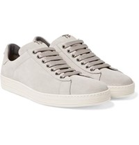 Tom Ford Russel Suede Sneakers Stone
