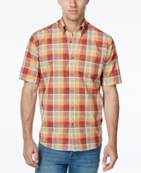 Cutter And Buck Men's Big Tall Youngstown Plaid Short Sleeve Shirt Multi