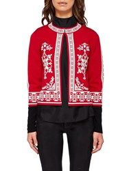 Ted Baker Roiley Jacquard Cardigan Red
