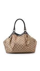 Wgaca Gucci Canvas Sukey Bag Previously Owned Black
