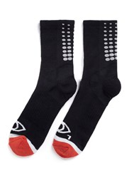 Icny Fade Gradient Quarter Ankle Socks Black