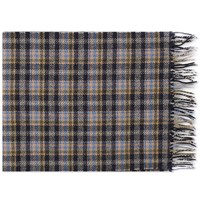 A.P.C. Denis Check Wool Scarf Blue