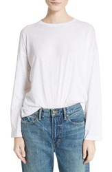 Vince Women's Relaxed Pima Cotton Tee White