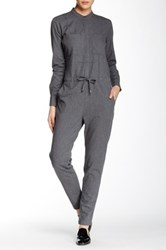 Shades Of Grey Workshirt Jumpsuit Gray