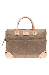 Men's Will Leather Goods Canvas Flight Bag Beige