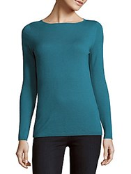 Max Mara Solid Cashmere Pullover Turquoise