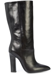Deimille Pointed Toe Boots Leather Black