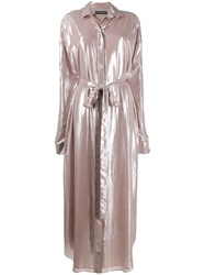 Y Project Disco Shirt Dress Pink