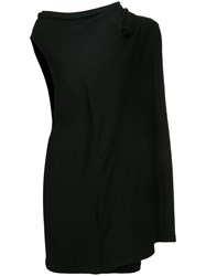 Yohji Yamamoto Vintage Asymmetric Layered Dress Wool Black