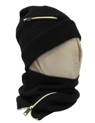 Replay Zipper Tube Scarf Black