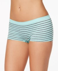 By Jennifer Moore Seamless Boyshort Only At Macy's Mint Stripe