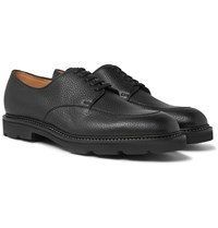 John Lobb Sentry Pebble Grain Leather Derby Shoes Black