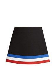 J.W.Anderson Striped Hem Neoprene Mini Skirt Black Multi