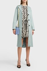 Paul And Joe Sister Percy Loose Cotton Blend Trench Coat Green