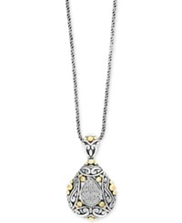 Effy Balissima By Diamond Two Tone Pendant Necklace 1 10 Ct. T.W. In Sterling Silver And 18K Gold Two Tone